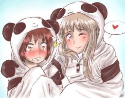 Panda Hoodies by xXKikaru-ChanXx