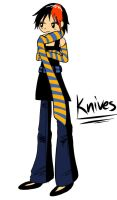 Some S.P. fanart of Knives by agalakachikaboum