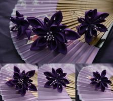 Starry night kanzashi set by elblack