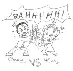 Obama vs Hillary by OrdinarySnowflake