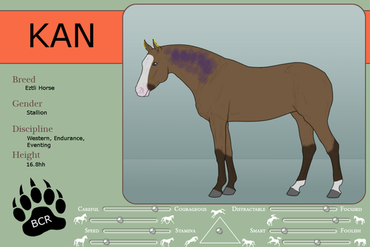 Ref sheet - Kan by MammothEquine71