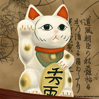 Maneki Neko by Corelia