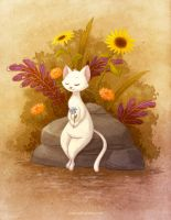 Flower Cat by autogatos