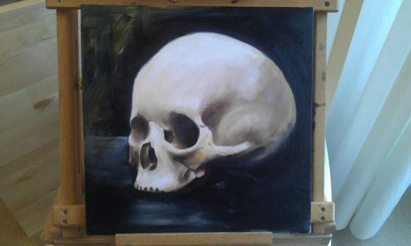 Skull Oil Painting by Ash-88