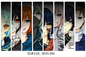 .::TEAM FATE . SEVEN SINS OF HOPE::. by ariasama