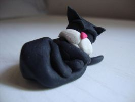 clay cat by Verymary1