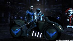 Injustice: Nightwing wallpaper by JoesHouseOfArt