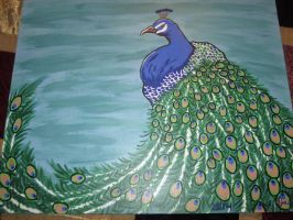Peacock Painting by JadasArtVision