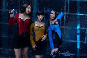 Star Trek corsets by StellaChuu