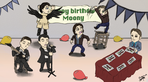 Happy Birthday Moony! by JoyceW-Art