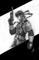 Solid Snake sketch by YamaOrce