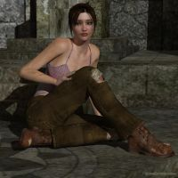 Young Lara taking a breather by JpauCroft