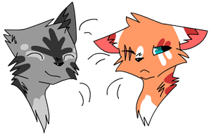 (CLOSED) 2 Free Tiny Cat Headshot Adoptables by CatSplat