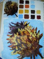 thistle head acrylic by Kayola