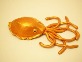 Orange Cuttlefish Pendant by KimsButterflyGarden