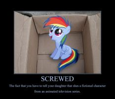 my little Dashie - Demotivational poster by gork105