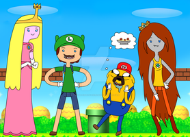 +BG+ It's Mario Time! by The-Ultimate-Hero