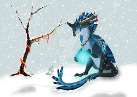 Christmas Card Face 2011 by LadyDistort