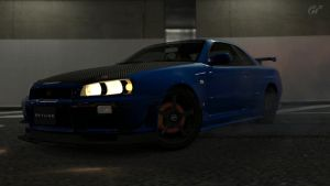 Nissan Skyline GTR R34 by MikeeHong