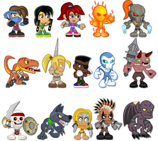 Classic Killer Instinct Chibis by LegendaryFrog