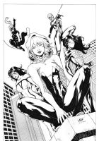 Spider Girls by Leomatos2014