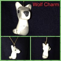 Gray wolf charm by SometimeSlime