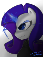 Rarity Stare V.2 by TheYoungReaper