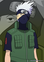 Naruto: Summer Team 7 :KAKASHI by Grave-Keeper