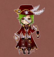 Custom Steampunk-Pirate for MagicalMonsters by BeesHoneypot