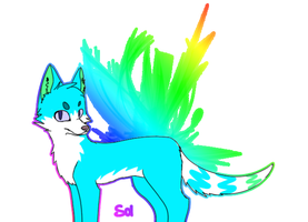 Sol the wolf Rainbow background addition :D] by Solthewolf