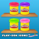 Play-Doh Icons by princessang2644