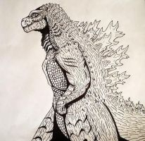 Redesign Series: New Godzilla (Adult Jr.) by DarkSeraphim02