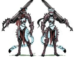 Black Knight Tigress Concept art by luigiix