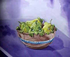 Introverted pears by AL1970ART