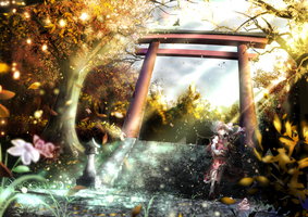 Hakurei Shrine by palinus