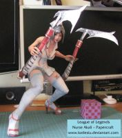 League of Legends - Nurse Akali Papercraft by kotlesiu