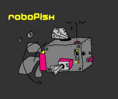 robot goldfish by Lovely-O