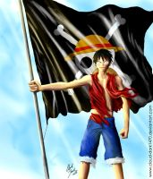One Piece - Luffy by cloud-dark1470