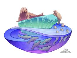 The Walrus and his Friends by SaraPlante