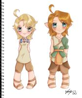 link and Ilia chibis by Kathisofy