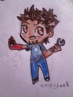 Tony Stark chibi (who then grew his Goatee) by MidnightsBloom