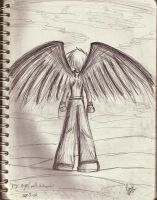 Kid Draws (19) my angel with black wings by Freak-a-lot