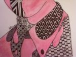 Zentangle Portrait (Close-Up 5) by heaven-is-lonely