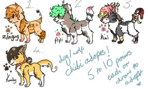 ~Wolf or Dog adopts - 5 to 10 points each / draw ~ by Sniperisawesome