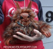 Tuna the baby Owlbear by missmonster