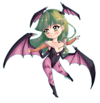 Morrigan chibi FACE CM by Spiny21Works