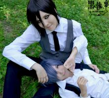 Summer time . Black Butler by GermanOlaf