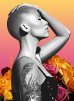 Digital Painting: Amber Rose by skARTistic