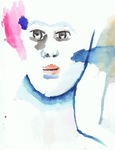 Watercolour face by 912photoshopking