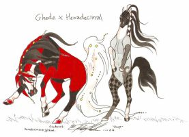 Ghede X Hexadecimal breeding by moonfeather